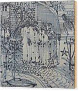 City Doodle Wood Print