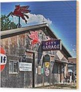 City Garage Wood Print by Joe Finney