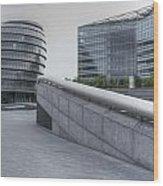 City Hall And The Shard Hms Belfast Thames London Wood Print