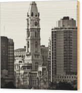 City Hall From The Parkway - Philadelphia Wood Print