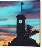 City Hall In Deerfield Beach Florida Wood Print
