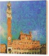 City Hall in Sienna Wood Print
