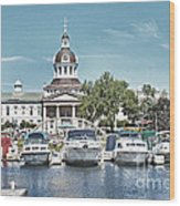 City Hall Kingston Ontario Canada Wood Print by Peggy Holcroft