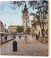 City-hall Krakow Wood Print