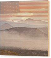City Of Boulder Colorado Usa Wildfire Season Wood Print