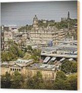 City Of Edinburgh Wood Print