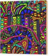 City Of Life Wood Print