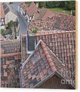 City Roofs Wood Print