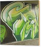 City Sponsored And Approved Graffiti Wood Print
