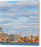 City View Four Wood Print