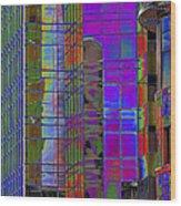 City Windows Abstract Pop Art Colors Wood Print