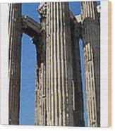 Citymarks Athens Wood Print