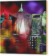 Cityscape 3 Wood Print