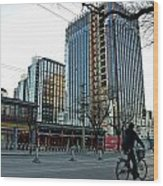 Cityscape 8 - Old And New Beijing Wood Print by Dean Harte