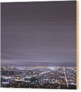 Cityscape, Los Angeles Wood Print by Eric Lo