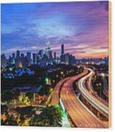 Cityscape Of Kuala Lumpur Wood Print
