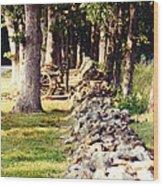 Civil War At Gettysburg Wood Print