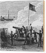 Civil War Battery Wood Print