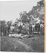 Civil War Burial, 1864 Wood Print