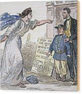 Civil War Cartoon Wood Print