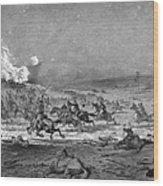 Civil War: Cavalry Charge Wood Print