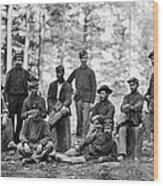 Civil War: Engineers Wood Print