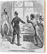 Civil War: Food Shortage Wood Print