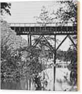 Civil War: Foot Bridge Wood Print