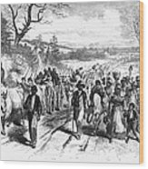 Civil War: Freedmen, 1863 Wood Print by Granger