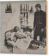 Civil War Hospital Wood Print