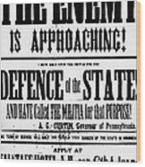 Civil War: Lees Campaign Wood Print