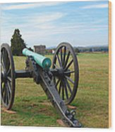 Civil War Lone Canon  Wood Print