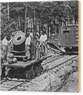 Civil War: Mortar Wood Print
