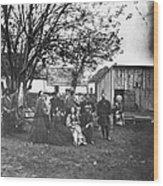 Civil War: Nurses & Officers Wood Print