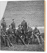 Civil War Officers Wood Print