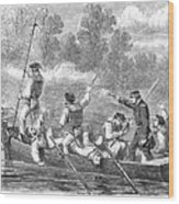 Civil War: Potomac River Wood Print