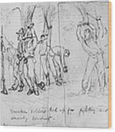 Civil War: Punishment Wood Print