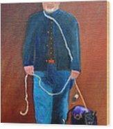 Civil War Reenactor Wood Print