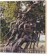 Civil War Soldiers Monument Wood Print