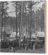 Civil War: Union Camp, 1864 Wood Print