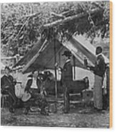 Civil War: Union Camp Wood Print