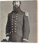 Civil War Union Commander Wood Print