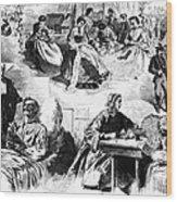 Civil War: Women, 1862 Wood Print