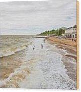 Clacton Beach Wood Print