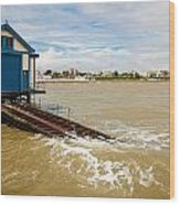 Clacton Lifeboat House Wood Print
