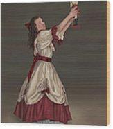 Clara With Nutcracker Wood Print