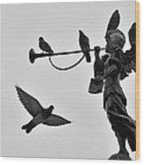 Clarinet Statue Wood Print
