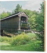 Clarks Covered Bridge Wood Print