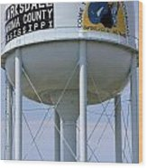 Clarksdale Water Tower Wood Print