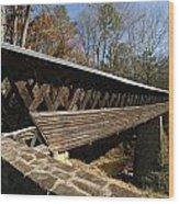 Clarkson Covered Bridge Wood Print